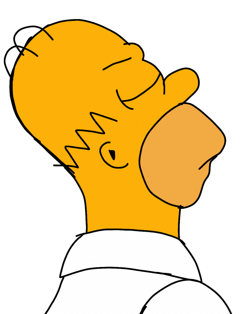 Homero Haciendo berrinche