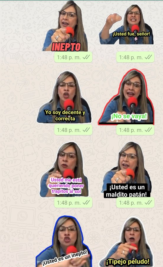 MEMES y Stikers Vicky Davila Contra Hassan