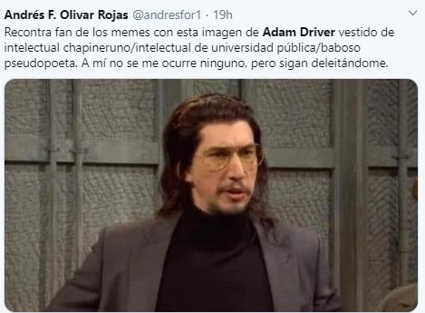 El meme de Adam Driver Intelectual