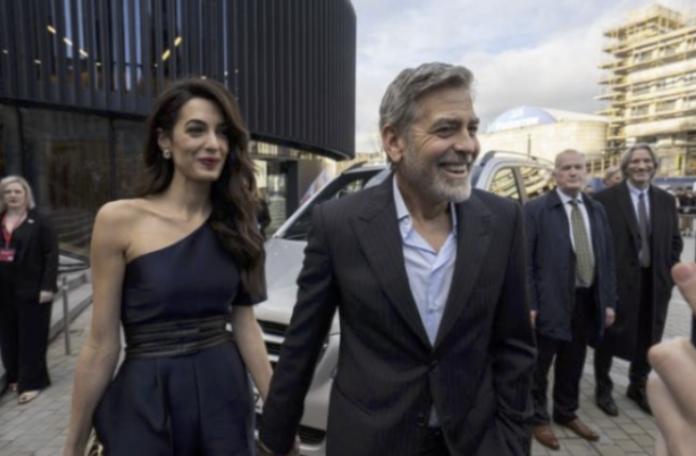 Amal Clooney exigió a George que se afeitara el rumor de oso 'asqueroso' desacreditado