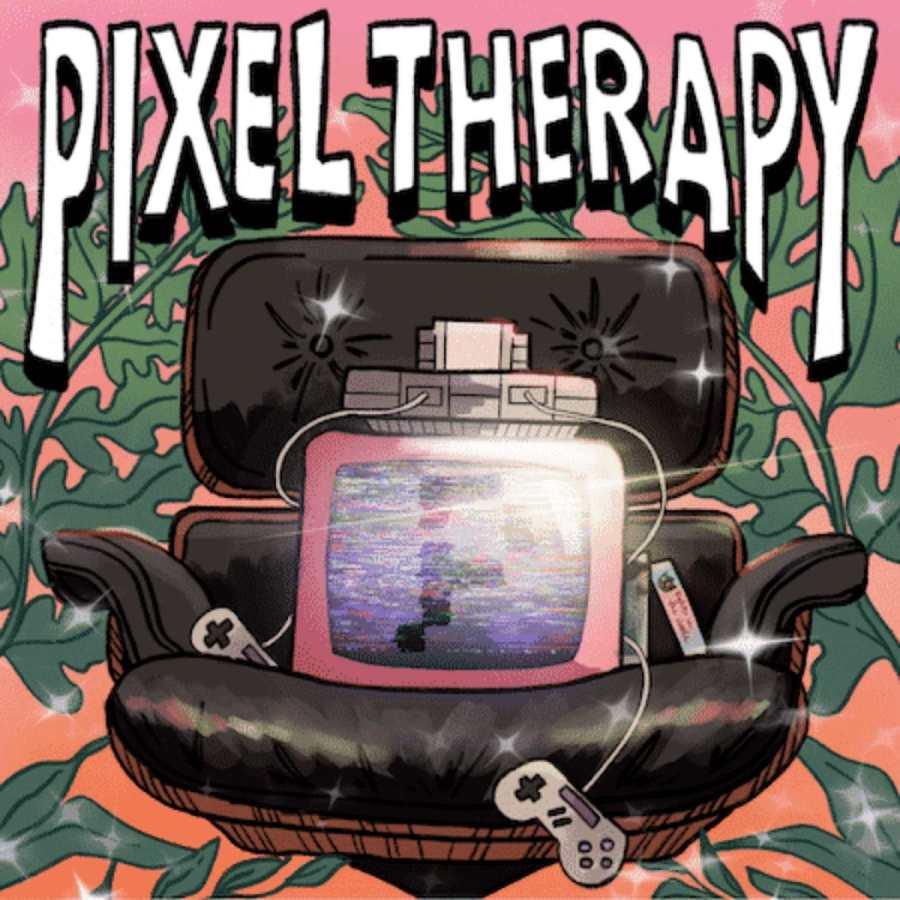 Logotipo de terapia de píxeles