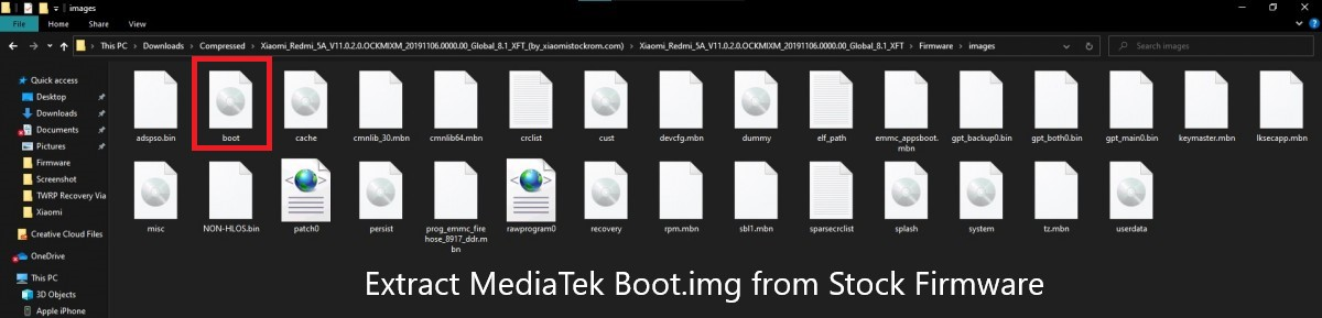 Extract-M ediaTek-Boot.img-from-Stock-Firmware