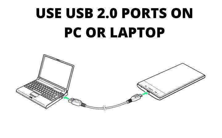 use la reparación del puerto usb 2.0 esperando el dispositivo adb fastboot