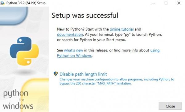 Python instalado