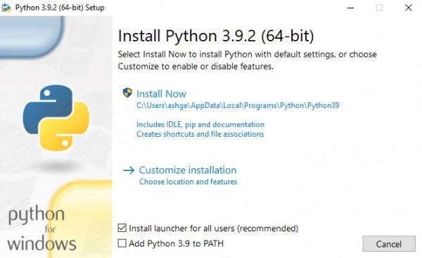 configuración de python