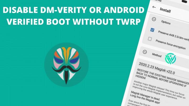 Desactivar AVB de arranque verificado de Android DM-Verity sin TWRP