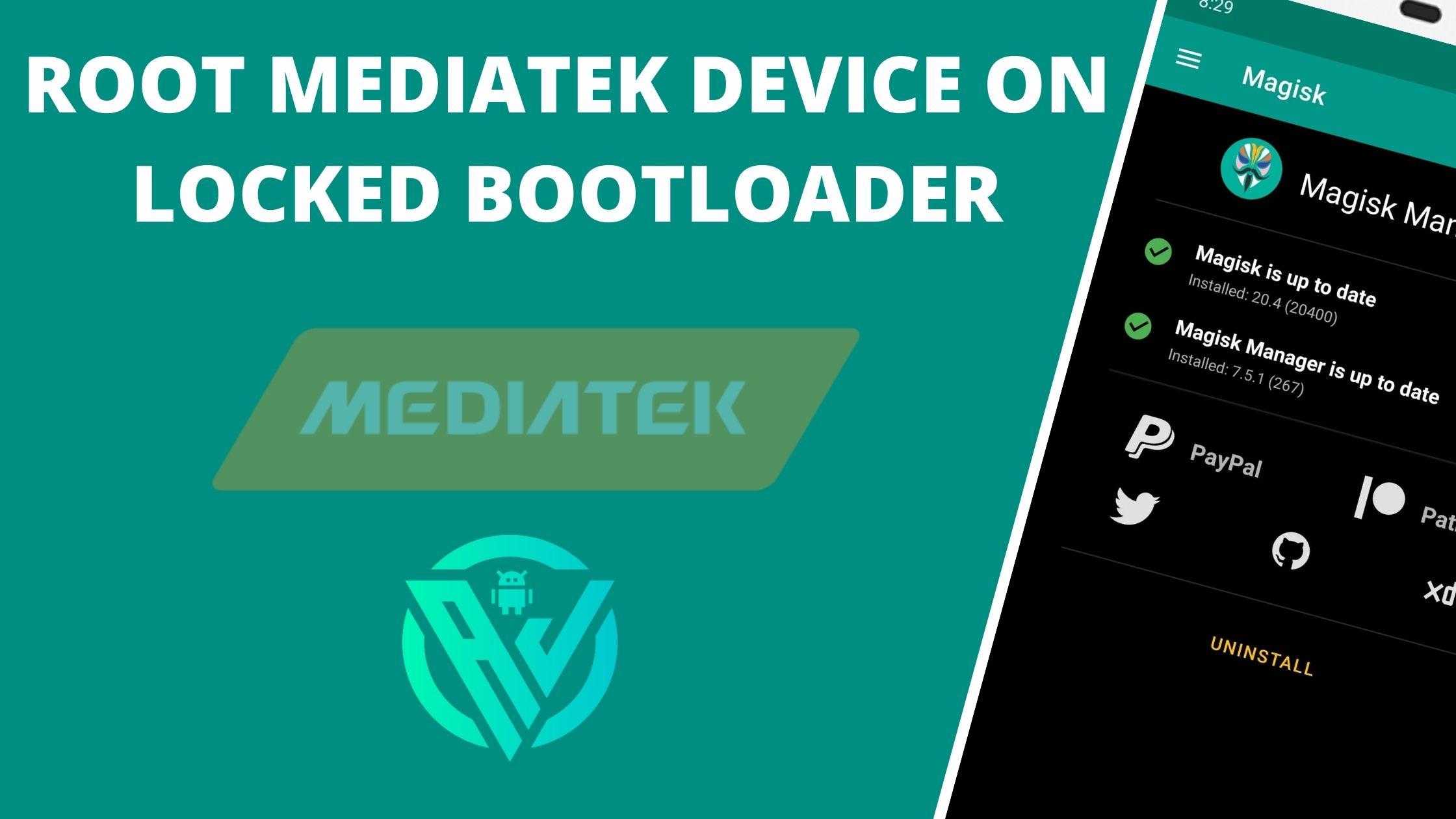 Dispositivo de raíz MediaTek en el cargador de arranque bloqueado