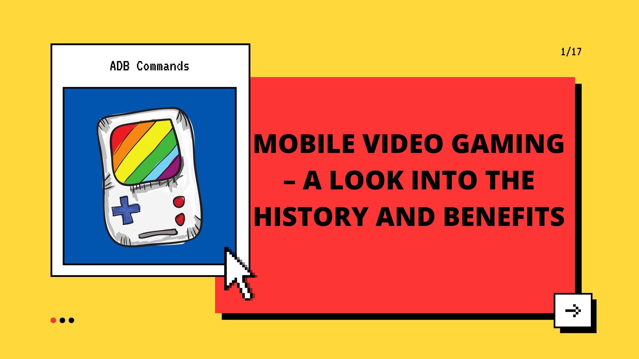 Videojuegos móviles: una mirada a la historia y los beneficios